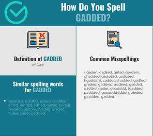 Correct spelling for Gadded