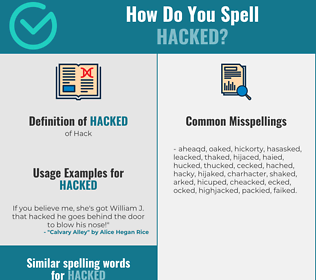 Correct spelling for Hacked