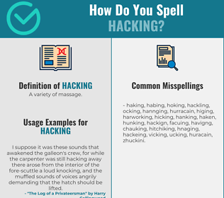 Correct spelling for Hacking