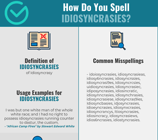 Correct spelling for Idiosyncrasies