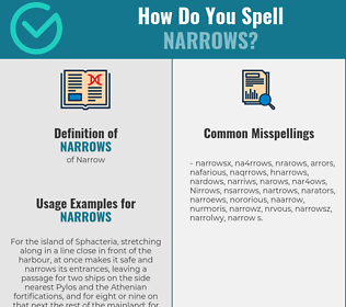 Correct spelling for Narrows