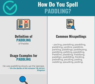 Correct spelling for Paddling
