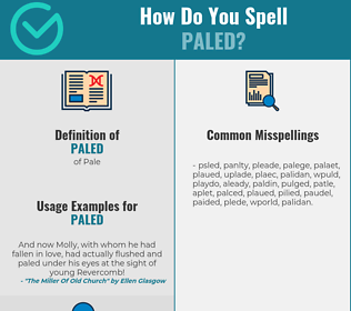 Correct spelling for Paled