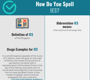 Correct spelling for ies
