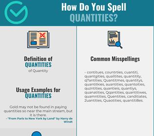 Correct spelling for Quantities