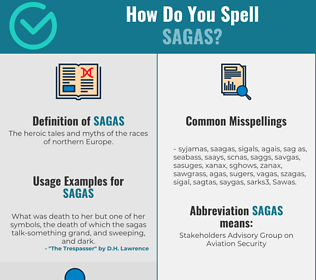 Correct spelling for Sagas