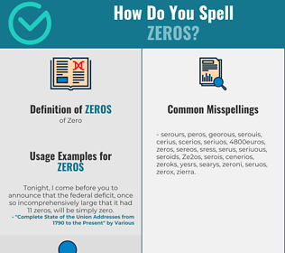 Correct spelling for Zeros
