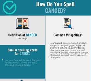 Correct spelling for Ganged