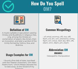 Correct spelling for Om
