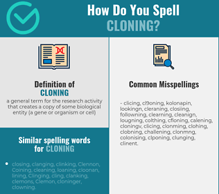 Correct spelling for cloning