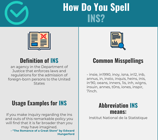 Correct spelling for INS