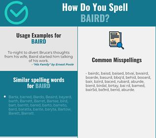 Correct spelling for Baird