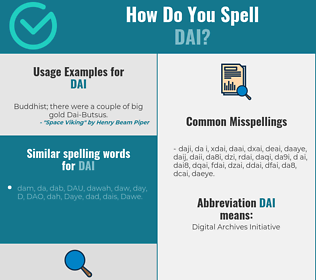 Correct spelling for Dai