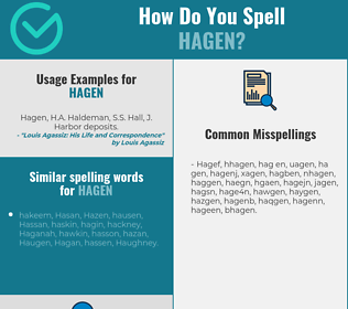 Correct spelling for Hagen