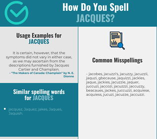 Correct spelling for Jacques