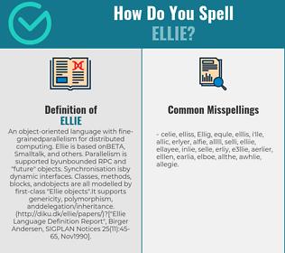 Correct spelling for Ellie