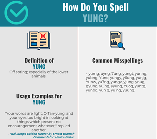 Correct spelling for Yung