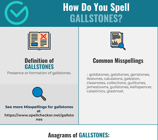 Correct spelling for Gallstones