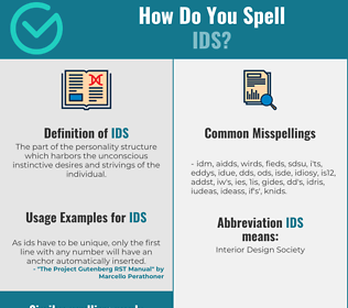 Correct spelling for Ids