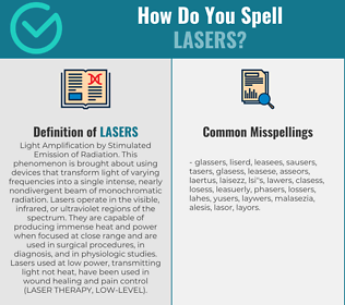 Correct spelling for Lasers