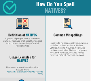 Correct spelling for Natives