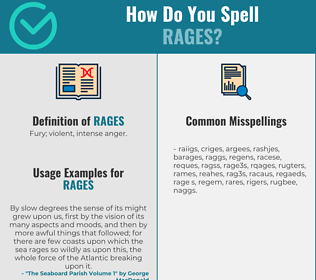 Correct spelling for Rages