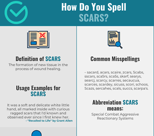 Correct spelling for Scars