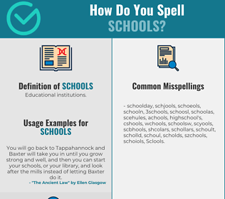 Correct spelling for Schools