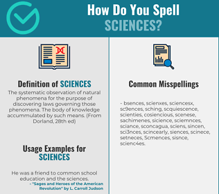 Correct spelling for Sciences