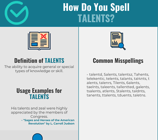 Correct spelling for Talents