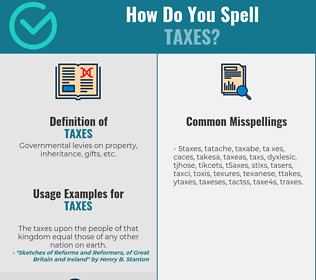 Correct spelling for Taxes