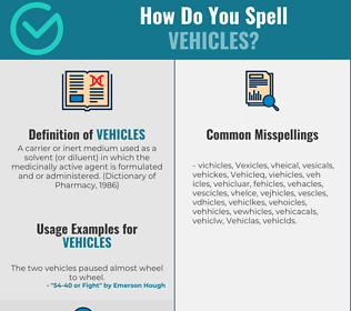 Correct spelling for Vehicles