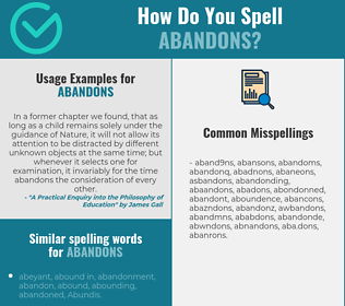 Correct spelling for abandons