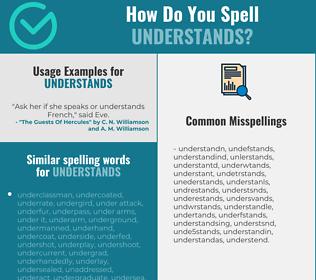 Correct spelling for understands
