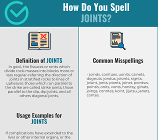 Correct spelling for joints
