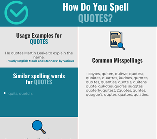 Correct spelling for quotes