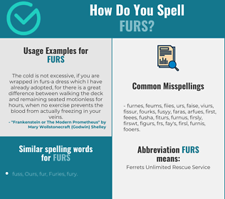 Correct spelling for furs