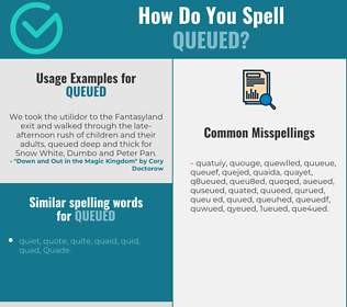 Correct spelling for queued