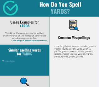 Correct spelling for yards
