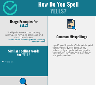 Correct spelling for yells