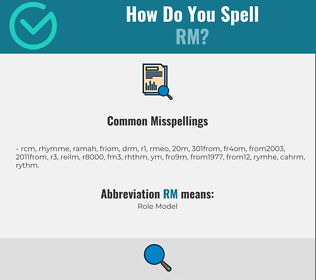 Correct spelling for RM