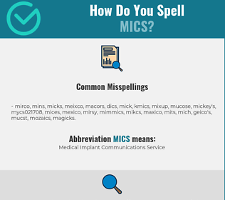 Correct spelling for MICS