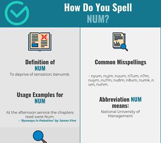 Correct spelling for NUM
