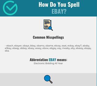 Correct spelling for EBAY