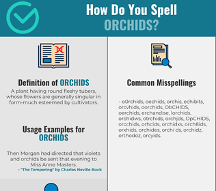 Correct spelling for ORCHIDS