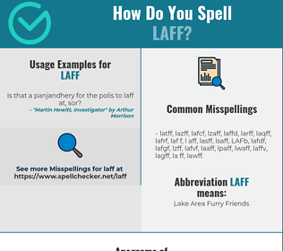Correct spelling for LAFF