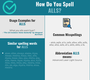 Correct spelling for ALLS