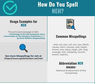 Correct spelling for NEH