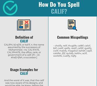 Correct spelling for CALIF
