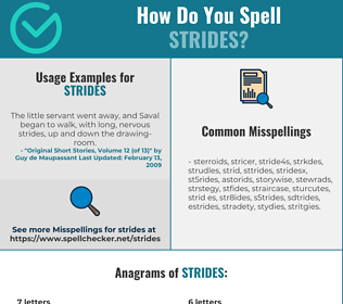 Correct spelling for STRIDES